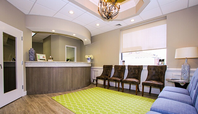 comfortable dental patient waiting area