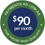 Payments as Low as $90 per month