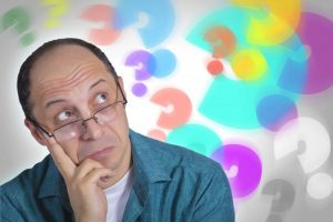man with questions
