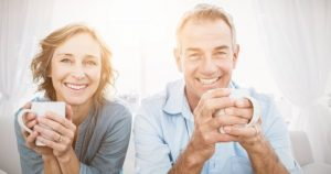 smiling middle-aged couple