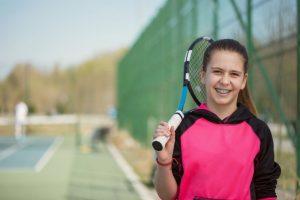 girl braces sports